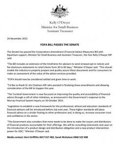 FOFA Bill Passes the Senate